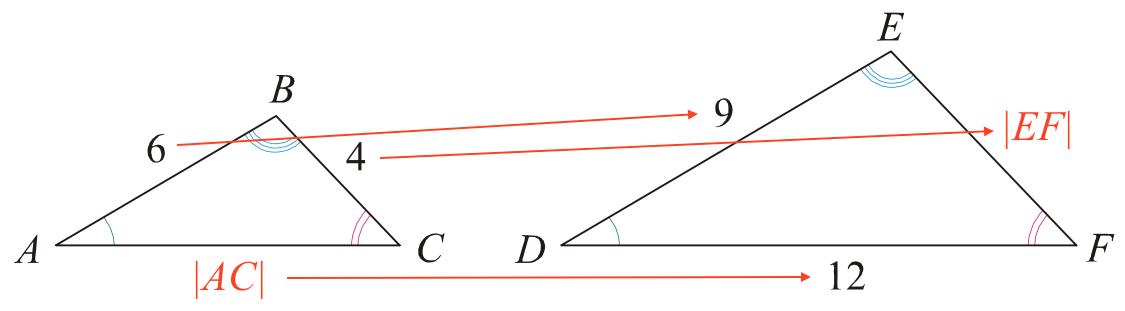 siderne i en trekant