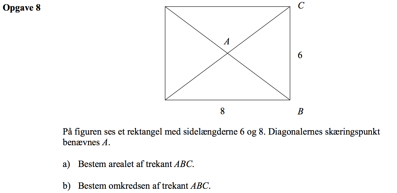 arealet af en trekant